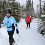 Nos ski-raquetteurs à l'oeuvre...