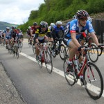 Une trentaine de cyclistes formait le peloton de tête, pendant une bonne partie de la cycle.
