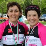 Caroline, de Gatineau, et Violaine, de Joliette, étaient bien satisfaites de leur journée... prêtes, qu'elles sont, maintenant, pour les 105 km du parc de la Mauricie.