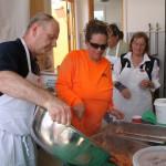 L'équipe de cuisiniers à l'oeuvre.